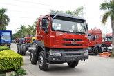 东风柳汽 乘龙M5重卡 320马力 8X4 9.6米排半栏板载货车底盘(LZ1240M5FAT)