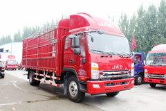 江淮 帅铃中卡 160马力 4X2 6.75米排半仓栅式载货车(HFC5162CCYP70K1E1) 卡车图片