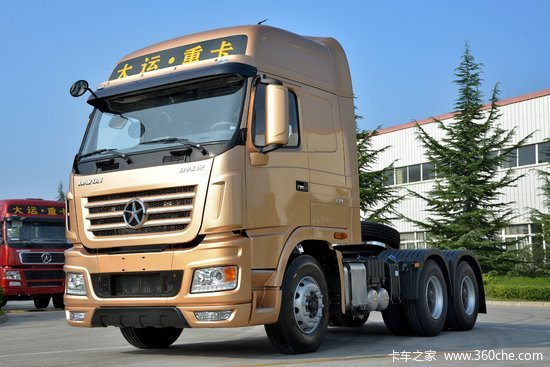 大运n9重卡 430马力 6x4牵引车(土豪金)