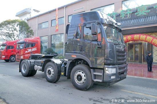 青岛解放 悍v重卡 350马力 6x2牵引车(ca4227p1k15t3e4a80)