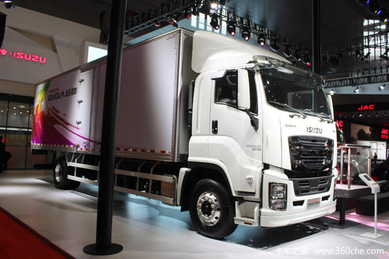 庆铃 五十铃巨咖 350马力 4x2 9.6米厢式载货车(ql5180xxyu1vdrj)
