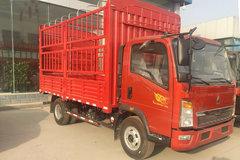中国重汽HOWO 悍将 标载版 129马力 4.15米单排仓栅式轻卡(ZZ5087CCYF3314E183) 卡车图片
