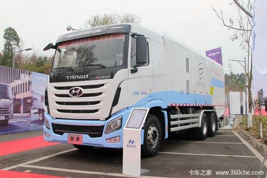 四川现代xcient创虎重卡410马力6x4道路污染清除车(fhs5250twq07h)