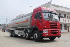 青岛解放 悍V 290马力 8X4 易燃液体罐式运输车(醒狮牌)(SLS5311GRYC5Q)