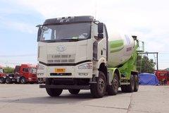 解放 J6P 390马力 8X4 5.2方混凝土搅拌车(凌宇牌)(CLY5315GJB36E5)