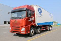 青岛解放 JH6重卡 400马力 8X4 9.4米冷藏车(CA5310XLCP25K2L7T4E5A80)