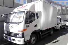 江淮 骏铃V6 141马力 3.82米排半厢式售货车(HFC5043XSHP91K1C2V) 卡车图片