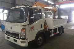 中国重汽HOWO轻卡 悍将 170马力 4X2 3.4米随车吊(ZZ5047JSQF341CE145)