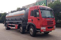 青岛束缚 龙V 220马力 6X2 腐化性物品罐式运输车(锡宇牌)(法士特)(WXQ5250GFWC5)