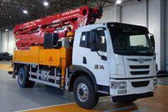 青岛解放 悍V 260马力 4X2 混凝土泵车(海隆吉特牌)(ZHL5200THB)
