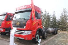 青岛解放 途V重卡 280马力 8X4 LNG 9.5米排半栏板载货车(CA1313P2K15L7T4NA80) 卡车图片