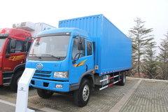 青岛解放 骏威(J5K)中卡 180马力 4X2 双排厢式载货车(PDZ5160XYK) 卡车图片