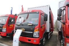 青岛解放 赛龙中卡 164马力 4X2 6.8米排半厢式载货车(CA1169PK2L2E4A80) 卡车图片