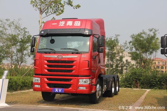 青岛解放 天V重卡 430马力 6X4 LNG牵引车(435后桥)(CA4258P2K15T1NE5A80)