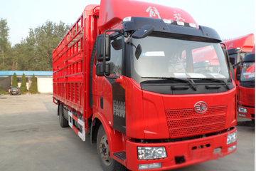 一汽解放 J6L中卡 164马力 4X2 6.8米排半仓栅式载货车(CA5160CCYP62K1L3E4)