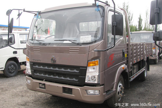 中国重汽HOWO 统帅 物流版 154马力 4.85米排半栏板载货车(ZZ1087G381CE183)