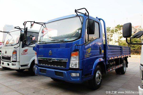 中国重汽HOWO 悍将 轻量化版 116马力 4.165米单排栏板轻卡