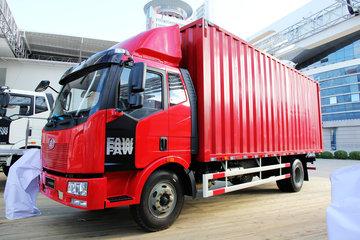 一汽解放 J6L中卡 领航版 180马力 4X2 7.7米排半厢式载货车(CA5160XXYP62K1L5A1E4)