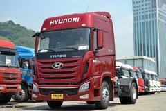 四川现代 创虎XCIENTP360重卡 360马力 4X2牵引车(低配)(CHM4180KPQ39M) 卡车图片