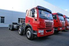 青岛解放 悍V重卡 290马力 8X4 7.2米自卸车底盘(CA3310P1K2L4T4E4A80)