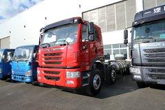青岛解放 悍V重卡 300马力 8X4 6.8米LNG自卸车底盘(CA3310P1K15L3T4NE5A80)图片