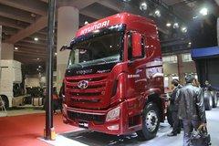 四川现代 创虎XCIENT重卡 410马力 8X4 9.3米排半载货车底盘(CHM1310KPQ80M) 卡车图片
