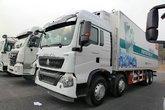 中国重汽 HOWO T5G 340马力 8X4 冷藏车(JYJ5317XLCD)