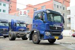 中国重汽 HOWO T5G中卡 180马力 4X2 6.5米排半厢式载货车底盘(ZZ1167H501GD1) 卡车图片