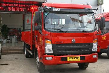中国重汽HOWO 统帅 轻量化版 154马力 4.165米单排栏板轻卡(ZZ1047F331BE145)