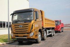 四川现代 创虎XCIENT重卡 340马力 8X4 7.6米自卸车(CHM3310KPQ72M) 卡车图片