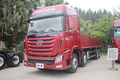 四川现代 创虎XCIENT重卡 410马力 8X4 9.3米栏板载货车(CHM1310KPQ80M) 卡车图片