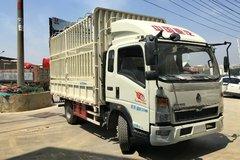 中国重汽HOWO 悍将 113马力 4.2米排半仓栅式轻卡(ZZ5107CCYD3415D1) 卡车图片