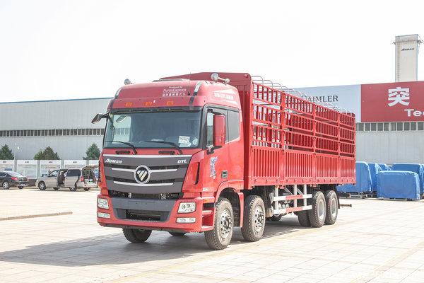 福田 欧曼GTL 6系重卡 超能版 山区型 350马力 8X4 9.5米仓栅式载货车