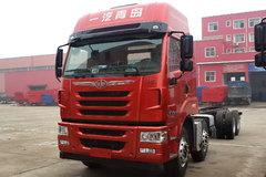 青岛解放 途V重卡 300马力 8X4 9.5米排半载货车底盘(CA1313P2K2L7T4BE4A80) 卡车图片