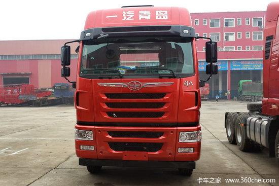 青岛解放 途V重卡 350马力 8X4 9.5米仓栅式载货车(锡柴)(CA5313CCYP2K2L7T4E5A80-1)
