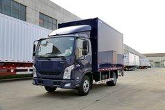跃进 超越C300-33 125马力 4.1米单排厢式轻卡(德邦蓝,液压尾板)(NJ1041ZFDCMZ) 卡车图片