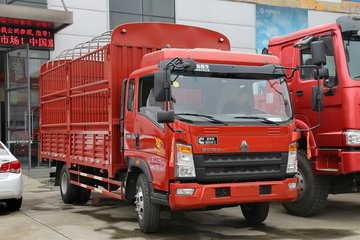 中国重汽HOWO 统帅 重载版 154马力 3.85米排半仓栅式轻卡(ZZ5087CCYF331CE183)