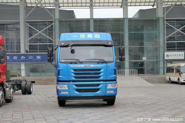 青岛解放 悍V重卡 260马力 8X2 9.65米仓栅式载货车