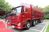 四川现代 Xcient创虎重卡 410马力 8X4 9.46米仓栅载货车(CHM5310CCQKPQ77V)