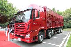 四川现代 创虎XCIENT重卡 410马力 8X4 9.46米仓栅载货车(CHM5310CCQKPQ77V) 卡车图片