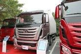 四川现代 Xcient创虎重卡 410马力 8X4 9.37米厢式载货车(CHM5310XLCKPQ77V)