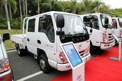 四川现代 瑞贝 113马力 2.6米双排栏板轻卡 卡车图片