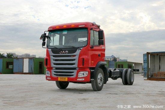 江淮 格尔发A5L中卡 165马力 4X2 6.2米排半栏板载货车(HFC1161P3K1A47S3V)