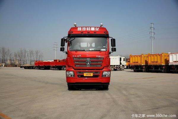 陕汽重卡 德龙新M3000 绿通版 350马力 8X4 9.55米仓栅式载货车(SX5310CCYGB456)