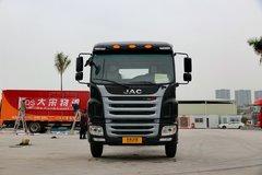 江淮 格尔发A5L中卡 165马力 4X2 6.2米排半仓栅式载货车(HFC5161CCYP3K1A47S3V)图片