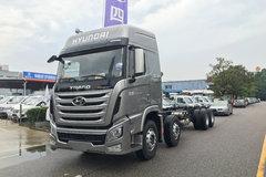 四川现代 创虎XCIENTP360重卡 360马力 8X4 9.5米排半厢式载货车底盘(CHM5310XXYKPQ80M) 卡车图片