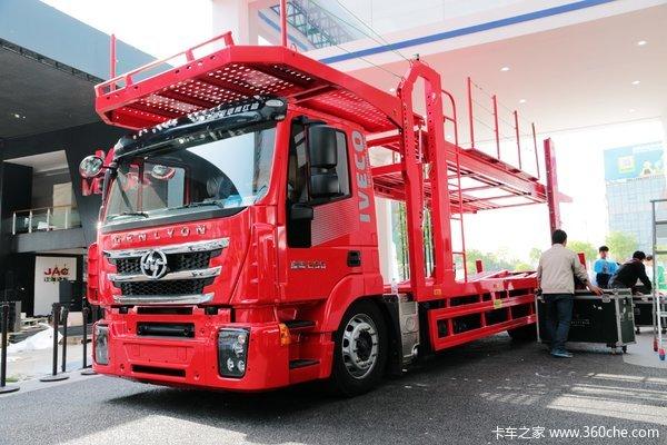 红岩 杰狮M100 390马力 4X2 中置轴轿运车