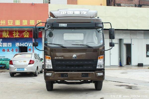 中国重汽HOWO 统帅 154马力 4.15米单排仓栅式轻卡