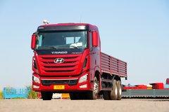 四川现代 创虎XCIENT重卡 340马力 6X4 7.8米栏板载货车(CHM1250KPQ61M) 卡车图片