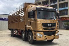 华菱 汉马 H6 345马力 8X4 9.6米仓栅式载货车(HN5310CCYX34D6M5)